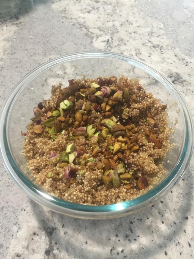 cherry pistachio quinoa